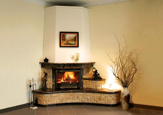 Угловой камин в квартире дизайн